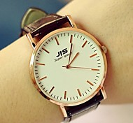 Unisex Round Dial PU Band Fashion Quartz Watch