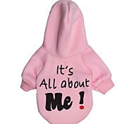 "Lovely ""It's All about Me!"" Pattern  Fleeces Hoodies T-Shirt for Dogs(Assorted Color;Assorted Sizes)"