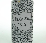 Surrounded Because Cats Pattern Hard Case for iPhone 6