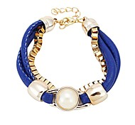 Fashion Leather Bracelet (Random Color)