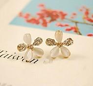 Love Is You Five Petals Diamond Stud Earrings