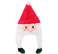 Beauty Cartoon Santa Claus Christmas Hat with Braid