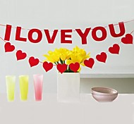 Party's I LOVE YOU and Heart Decoration Garland (Set of 2)