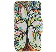 Для Кейс для Nokia Бумажник для карт / Флип Кейс для Чехол Кейс для дерево Твердый Искусственная кожа Nokia Nokia Lumia 520