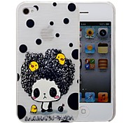 Cartoon Little Girl Pattern PC Brushed Case for iPhone 4/4s