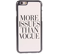больше вопросов, чем vogne дизайн алюминиевой жесткий случае для Iphone 6