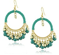 Fashion Flower Round Zircon Earring (Assorted Colors)