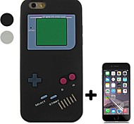 Gamepad Style Silicone Soft Case with Screen Protector for iPhone 6/6S