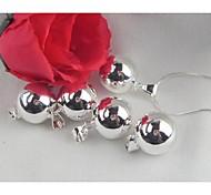 a voz de um anjo 925 banhado a prata sinos dos carneiros natal pingente de colar 2pc (pendente apenas)