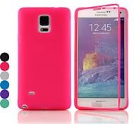 df® flip s-view TPU siliconen full body case voor Samsung Galaxy Note 4 (verschillende kleuren)