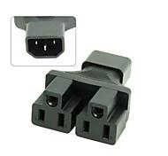 IEC320 C14 Stecker auf verdoppeln NEMA 5-15R USA UPS y Art Verteilerverlängerung Netzteil