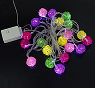 Sepak Takraw 5M 4.8W Christmas Flash 20-LED RGB Light Strip Light Lamp (EU Plug , AC 220V)