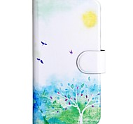Spring Pattern PU Mobile Phone Holster With Card Slot for iPhone 6