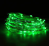 Waterproof 10W 100x0603SMD Soft Copper Green Lights(DC 12V/1000cm)