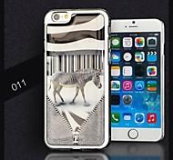 AIKUSU® Newest Zebra Pattern Epoxy Gel Full Body Case for iPhone 6