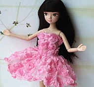 Barbie Doll Sweet Girl Pink Rose Party Dress