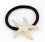 European Style Fashion Metallic Starfish Hair Ties