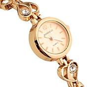 Women's Round Dial Alloy Band Bracelet Watch