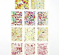 Adesivi stampa di trasferimento dell'acqua chiodo decalcomanie 1x11pcs amore per le decorazioni di arte del chiodo punte del chiodo (25 * 16 * 0,1