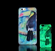 Toucan Pattern Glow in the Dark Hard Case for iPhone 6