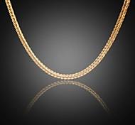 nunca desaparecer 24k verdadeiro ouro dos homens jack banhado cadeias figaro ligação quadrados colar de alta qualidade para homens 5 milímetros 75