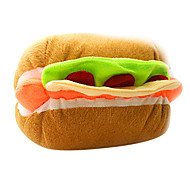 Hamburger Shaped Squeaking Plush Toy For Pet Dogs(Assorted Colour)