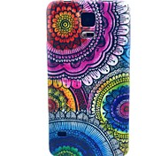 The Kaleidoscope Of Flowers Pattern TPU Soft Case for S5 I9600