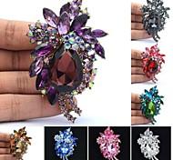 bonito gota de strass jóias pin broche de flor broche mulheres festa de formatura (mais cores)