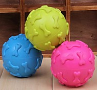 Dog Toy Pet Toys Ball Chew Toy Squeak / Squeaking Bone Random Color Rubber
