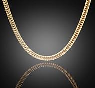 никогда не увядает Джек мужская 24k реальное позолоченные Фигаро редко плоский ссылка цепи ожерелье высокого качества для мужчин 6мм 75 см