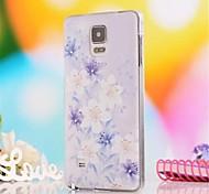 Para Samsung Galaxy Note Diamantes Sintéticos / Diseños Funda Cubierta Trasera Funda Flor Policarbonato Samsung Note 4