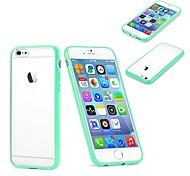 colore solido glassa posteriore Case for iPhone 6 (colore assorteed)