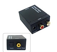 Analog L/R to Digital SPDIF Coaxial Coax RCA & Optical Toslink Audio Converter