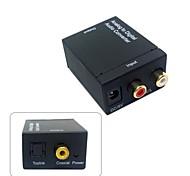 analógico l / r para digital SPDIF coaxial coaxial rca&toslink óptica conversor de áudio