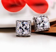 Fashion Square Earrings Jewelry,in 925 Sterling Silver Earrings Jewelry,Cubic Zirconia Earrings,Women's Earrings Jewelry