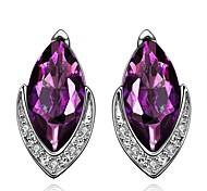 Элегантные блестящие фиолетовый драгоценный камень золото обшивки лучшие импорт оптовые ювелирные изделия