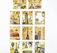 1x11pcs trasferimento di acqua di stampa adesivi in stile francese del chiodo decalcomanie per le decorazioni di arte del chiodo del chiodo (25 * 16