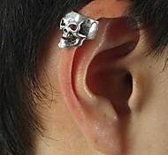 Punk Fashion Skull Ear Clips [1 Contains Five Pieces ] Random Color