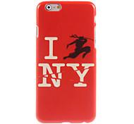 i love new york caso duro del diseño para el iPhone 6 Plus
