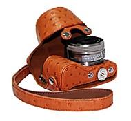 Pajiatu PU Leather Ostrich Grain Camera Protective Case Bag Cover for Sony NEX-5R NEX-5T NEX-5TL 5R 5T 16-50mm Lens