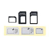 4 in 1 Nano-SIM-Karte und Micro-SIM-Adapter mit Auswurfstift Schlüssel für iphone 6/6 plus / 5s / 5 / 4S / 4 und andere