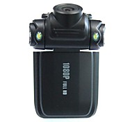"2.0"" LCD 5.0 MP Wide Angle 4X 1080P Zoom Digital Car DVR Camcorder with Mini USB/HDMI/TF Card - Black"