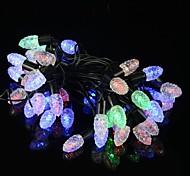 LED 5W-50 multi-color del rgb piña modelo cadena luz de la Navidad (220v / 2-round-pin enchufe)