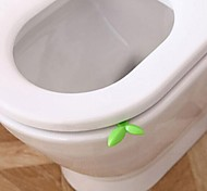 Environmental Mini Leaves Shape Anti Dirty Hands Toilet Cover Lifter (Random Color)