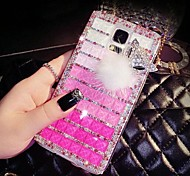 For Samsung Galaxy Case Rhinestone Case Back Cover Case Color Gradient PC Samsung S5