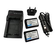 Ismartdigi-Sony NP-FW50 x2 (1500mAh,7.2V) Camera Battery+EU Plug+Car Charger For NEX-5T 5R 3N F3 C3 A7 7 A55 A35 A7R