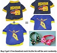 acquistare 2 ottenere 1 pareggio animale libero, un pacchetto di 2 cani t-shirt diverse vendite del gruppo modello per cani da compagnia (formati