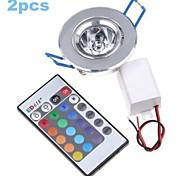 2 stuks MORSEN 3 W 1 Geïntegreerde LED 200-250 LM RGB Verzonken ombouw Op afstand bedienbaar / Decoratief Plafondlampen / PaneellampenAC