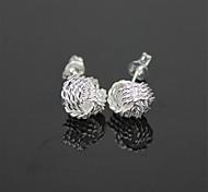 925 Net Silver Women's Earrings - Silver (Pair)