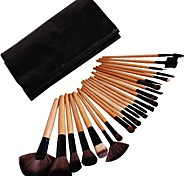 24pcs Professional Natural Wood Color Beauty Makeup Brush Sets
